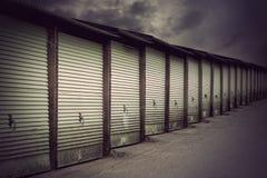 Portas da garagem Fotos de Stock Royalty Free