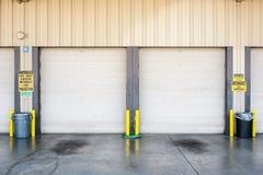 Portas da garagem Imagem de Stock Royalty Free