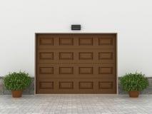 Portas da garagem Imagens de Stock Royalty Free