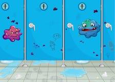 Portas da lavagem-sala e de um monstro Imagem de Stock Royalty Free
