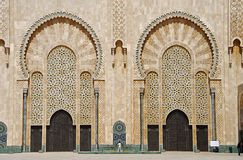 Portas da mesquita de Hassan II. Foto de Stock