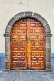 Portas da rua coloridas à casa Fotos de Stock Royalty Free