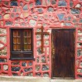 Portas da rua coloridas à casa Imagem de Stock