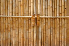 Portas de bambu Fotografia de Stock