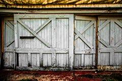 Portas de celeiro foto de stock