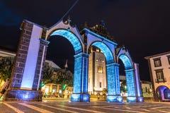 Portas de Cidade в Ponta Delgada на острове Sao Мигеля в Азорских островах, Португалии Стоковые Изображения RF