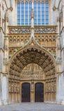 Portas de entrada principal da catedral de Antwerpen Fotos de Stock Royalty Free
