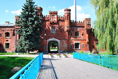 Portas de Holmskie na fortaleza de Bresta. Foto de Stock Royalty Free