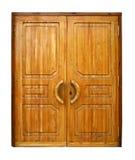 Portas de madeira dobro Foto de Stock Royalty Free