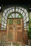Portas de madeira velhas Fotos de Stock