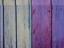Portas de madeira velhas pintadas na decoração do óleo foto de stock royalty free