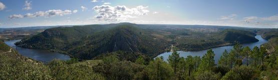 Portas de Rodao panorama from castle viewpoint stock image