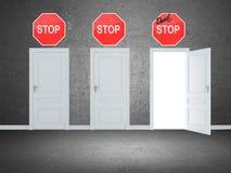 Portas de saída Imagem de Stock
