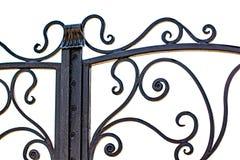 Portas do ferro forjado, forjamento decorativo, close-up forjado dos elementos fotografia de stock royalty free