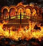 Portas do inferno ilustração stock