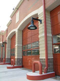 Portas do louro do Firehouse fotografia de stock royalty free