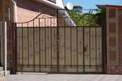 Portas do metal Fotografia de Stock