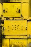Portas do metal amarelo Imagem de Stock