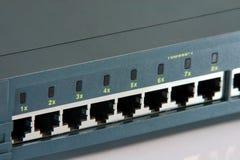 Portas do router Fotografia de Stock