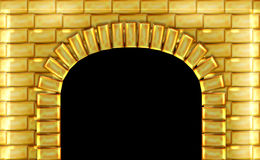 Portas douradas Fotos de Stock