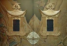 Portas douradas Fotos de Stock Royalty Free