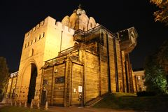 Portas douradas em Kiev, Ucrânia foto de stock