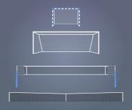 Portas e redes dos esportes ilustração royalty free