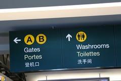 Portas e sinal dos banheiros Imagens de Stock