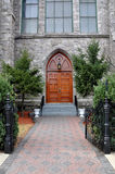 Portas históricas da igreja imagens de stock royalty free