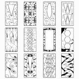 Portas, ilustração monocromática do vetor de uma coleção dos símbolos Fotos de Stock