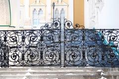 Portas metálicas pretas da câmara Faceted Moscovo Kremlin imagem de stock