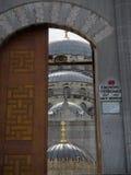 Portas novas da mesquita Foto de Stock Royalty Free