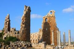 Portas romanas antigas em Perge, Fotografia de Stock Royalty Free