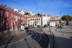 Portas tun Solenoid in der Stadt von Lissabon Stockbild