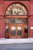 Portas velhas com lotes do vidro Fotografia de Stock