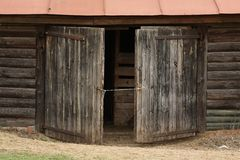 Portas velhas envelhecidas Fotografia de Stock