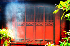 Portas vermelhas do templo Imagem de Stock Royalty Free