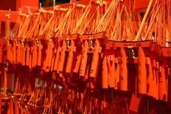 Portas xintoísmos pequenas em Kyoto Fotografia de Stock Royalty Free