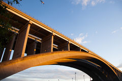 Portata concreta del ponte Immagine Stock