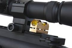 Portata del fucile che è controllata il livello immagini stock