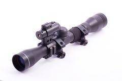 Portata del fucile del laser fotografia stock libera da diritti