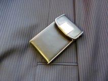 Portatarjetas de cuero Fotos de archivo libres de regalías