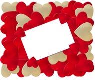 Portatarjetas de la tarjeta del día de San Valentín Imagen de archivo libre de regalías