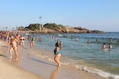 Portate termiche 44 di sensazione centigrado 5 gradi in Rio de Janeiro Fotografia Stock Libera da Diritti