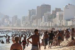 Portate termiche 44 di sensazione centigrado 5 gradi in Rio de Janeiro Fotografie Stock