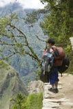 Portatore per la traccia del inca nel Perù Fotografia Stock Libera da Diritti
