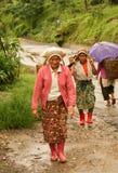 Portatori delle donne che trasportano i cestini Fotografia Stock Libera da Diritti