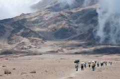 Portatori su Kilimanjaro Fotografia Stock Libera da Diritti