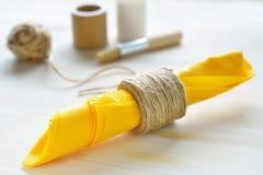Portatovagliolo della corda DIY Immagine Stock Libera da Diritti