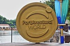 PortAventura parkerar tecknet Arkivbild